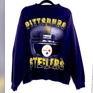 Vintage Steelers black crew sweatshirt size XL